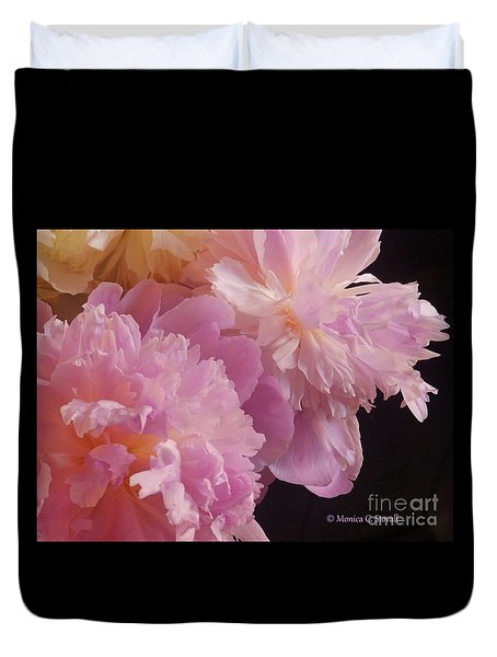 M Shades Of Pink Flowers Collection No. P66 Duvet Cover