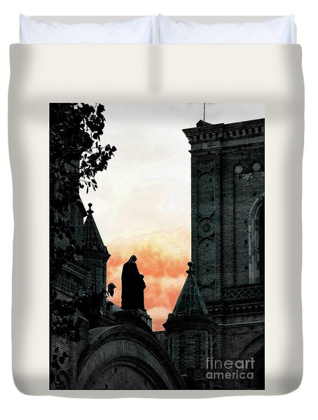 Madonna And Child II Duvet Cover by Al Bourassa