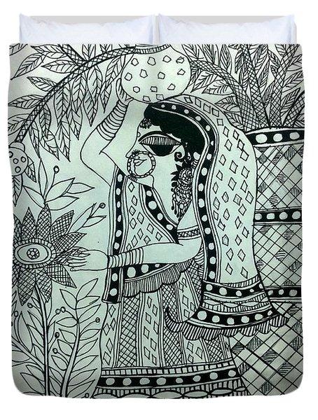 The Village Girl Duvet Cover
