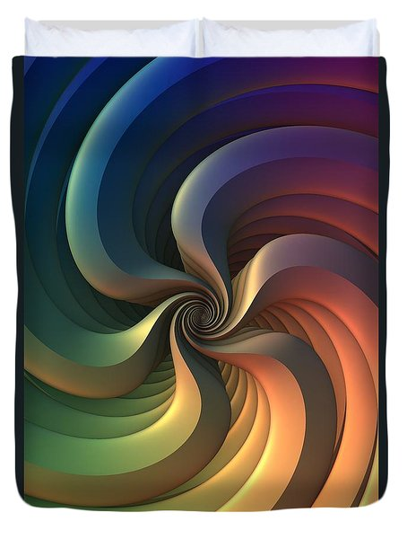 Duvet Cover featuring the digital art Maelstrom by Lyle Hatch