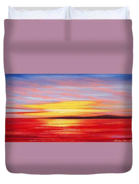 Magic At Sunset Duvet Cover