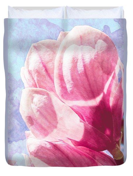 Magnolia Blossom Duvet Cover by Arlene Carmel