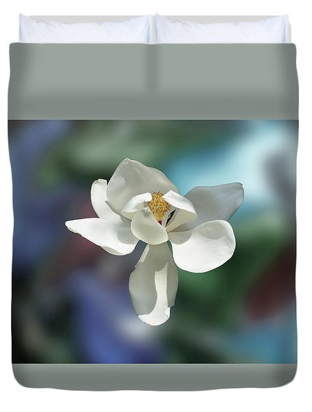 Magnolia Duvet Cover by Helen Haw