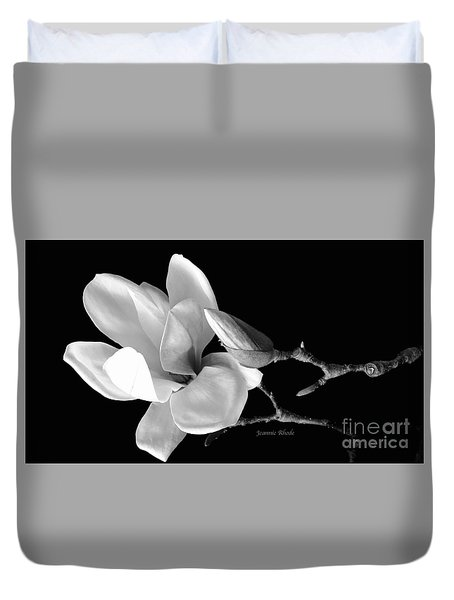 Magnolia In Monochrome Duvet Cover