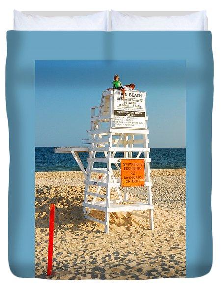 Duvet Cover featuring the photograph Main Beach East Hampton by James Kirkikis