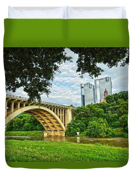 Duvet Cover featuring the photograph Main St Bridge by Ricardo J Ruiz de Porras
