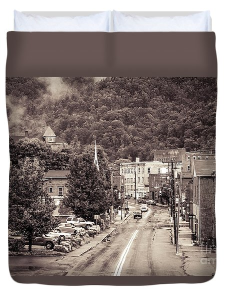 Duvet Cover featuring the photograph Main Street Webster Springs by Thomas R Fletcher