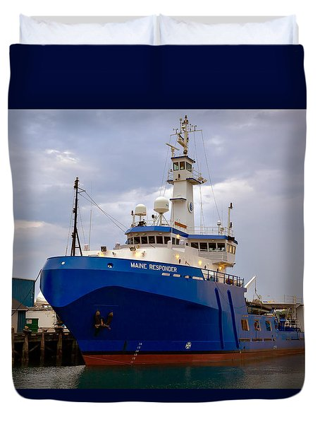 Maine Responder Duvet Cover by Denis Lemay
