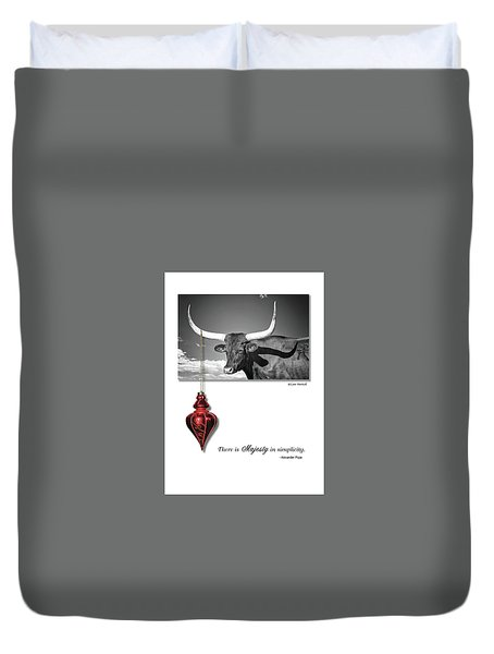 Majesty In Simplicity Duvet Cover