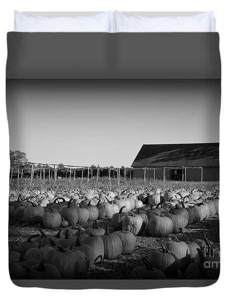 Make Way For Pumpkins Duvet Cover