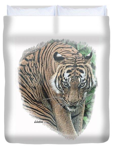 Malayan Tiger Duvet Cover