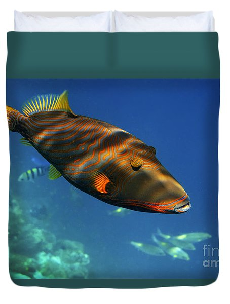 Duvet Cover featuring the photograph Maldives by Juergen Held