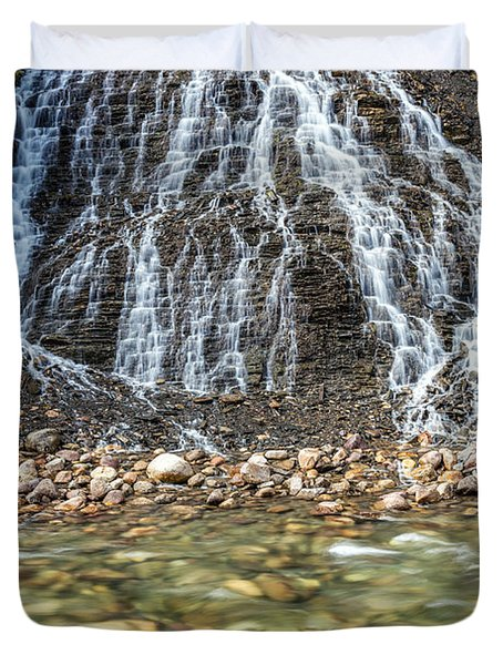 Cascades Of Maligne Canyon Duvet Cover