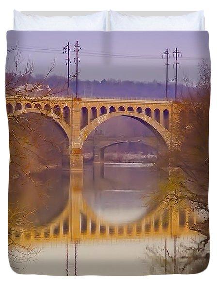 Manayunk Bridge Duvet Cover by Bill Cannon
