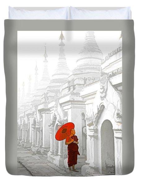Mandalay Monk Duvet Cover by Dennis Cox WorldViews
