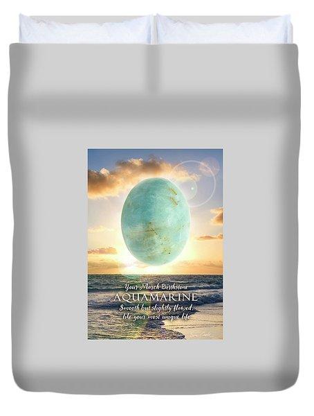 March Birthstone Aquamarine Duvet Cover