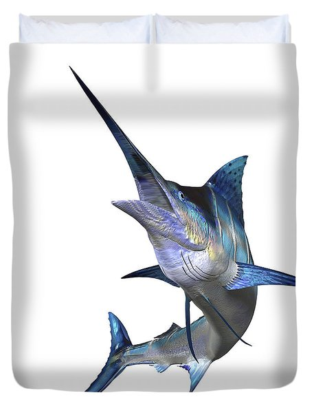 Marlin Duvet Cover by Corey Ford