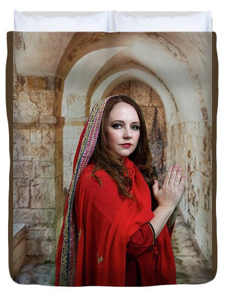 Mary Magdalene Duvet Cover by David Clanton