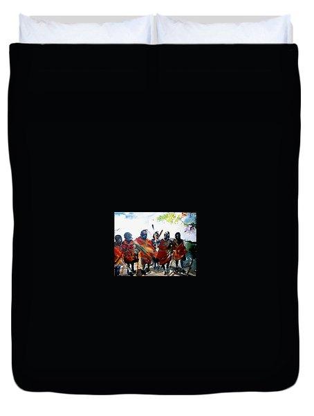 Masaai Boys Duvet Cover
