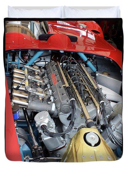 Maserati Engine Duvet Cover