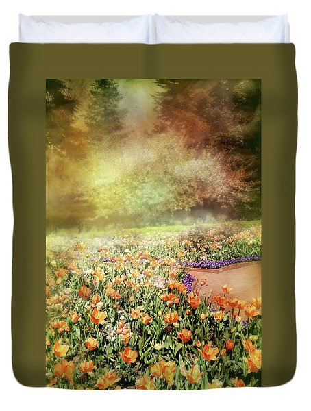 Duvet Cover featuring the photograph Masquerade by Diana Angstadt