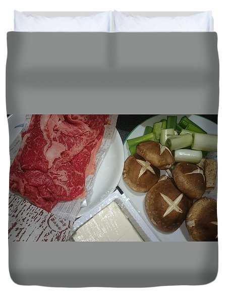 Materials Of The Sukiyaki Dish  Duvet Cover