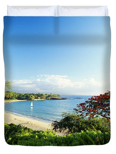 Mauna Kea Beach Duvet Cover by Peter French - Printscapes