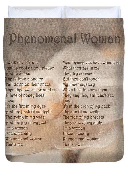 Maya Angelou - Phenomenal Woman  Duvet Cover