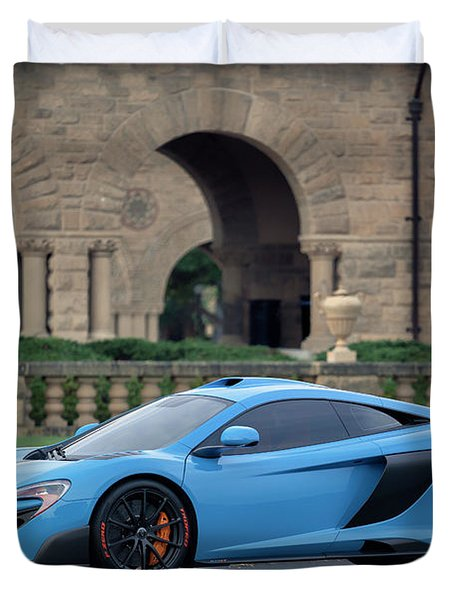 #mclaren #675lt With #pirelli #tires Duvet Cover