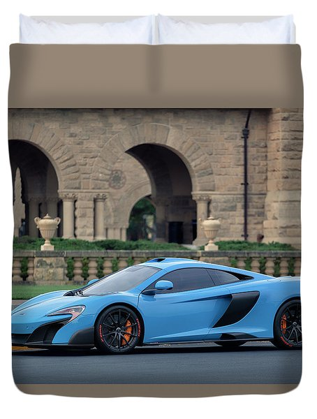Duvet Cover featuring the photograph #mclaren #675lt With #pirelli #tires by ItzKirb Photography