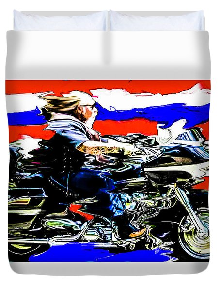 Mead In America Duvet Cover by Michael Nowotny