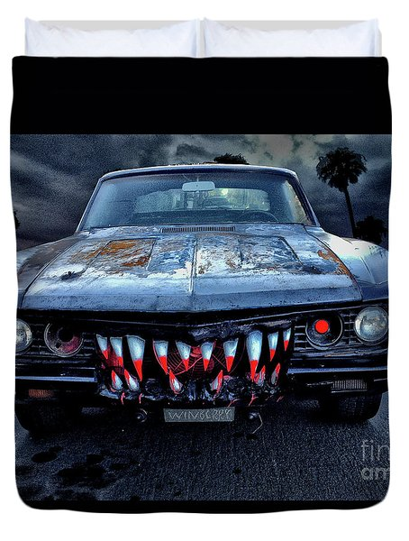 Mean Streets Of Belmont Heights Duvet Cover by Bob Winberry