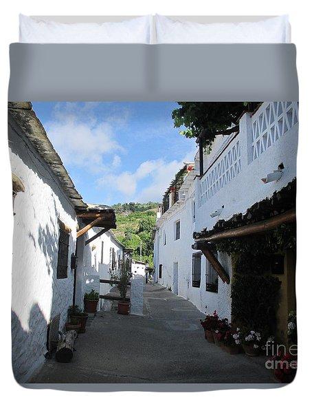 Street In Mecina Duvet Cover