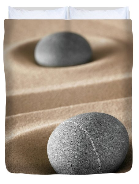 Duvet Cover featuring the photograph Meditation Stones by Dirk Ercken