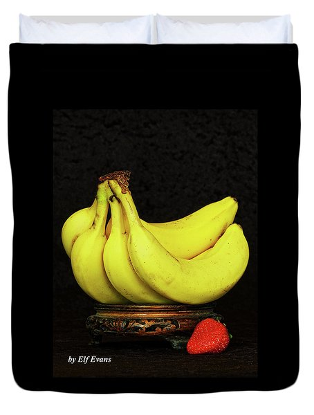 Duvet Cover featuring the photograph Mellow Yellows And Red by Elf Evans