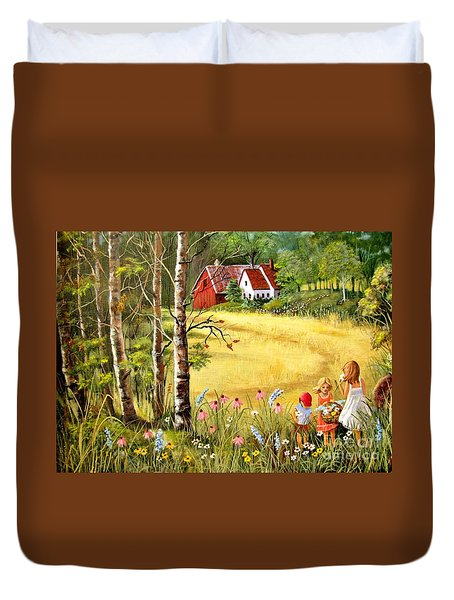 Memories For Mom Duvet Cover