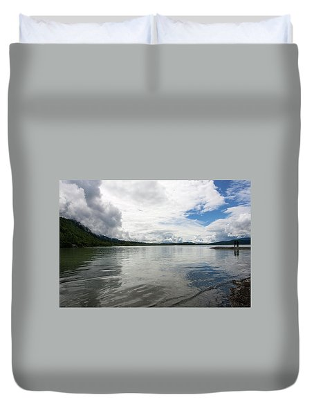 Mendenhall Lake Duvet Cover