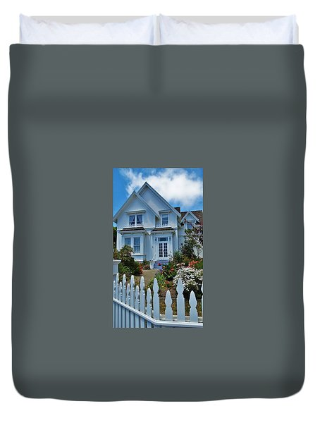 Mendocino Cottage Duvet Cover