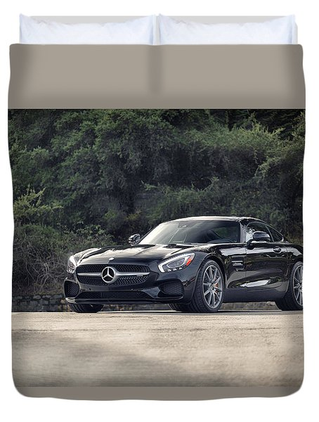 Duvet Cover featuring the photograph #mercedes #amg #gts by ItzKirb Photography