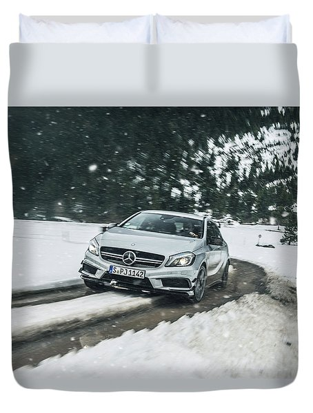 Mercedes Benz A45 Amg Snow Duvet Cover