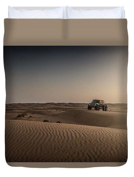 Mercedes G63 6x6 In Oman Desert Duvet Cover