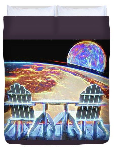 Duvet Cover featuring the digital art Mercury Rising by John Haldane