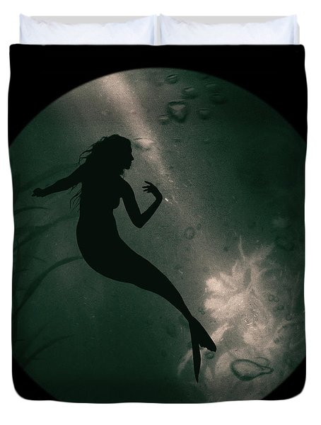 Mermaid Deep Underwater Duvet Cover