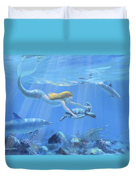 Mermaid Fantasy Duvet Cover