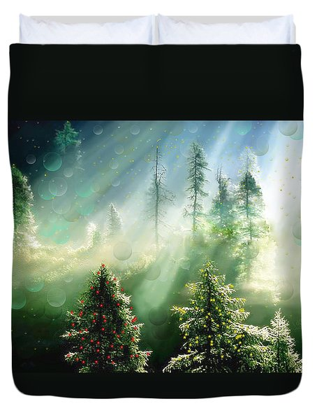 Merry Christmas Duvet Cover by Angela A Stanton
