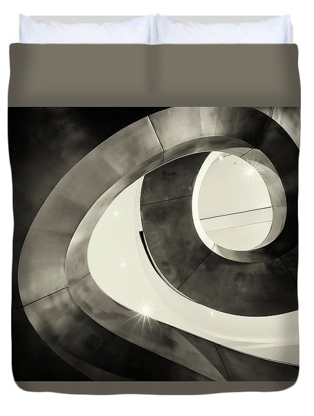 Abstract Metal Spiral Staircase Duvet Cover