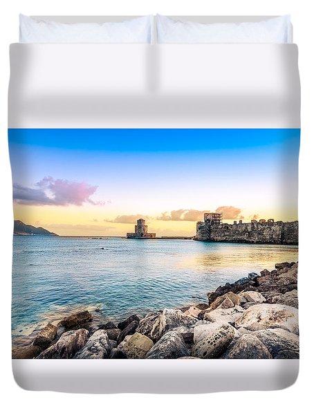 Methoni's Castle / Greece. Duvet Cover
