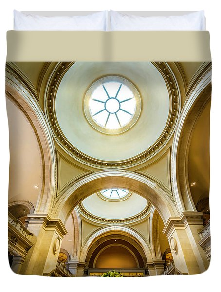 Duvet Cover featuring the photograph Metropolitan Museum Of New York by Marvin Spates