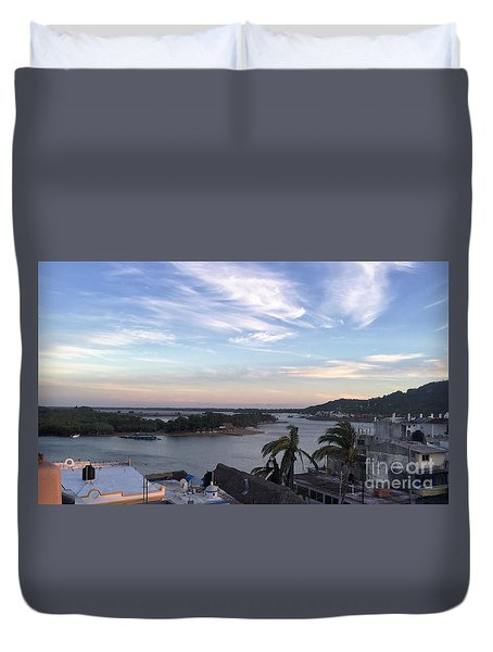 Duvet Cover featuring the photograph Mexico Memories by Victor K