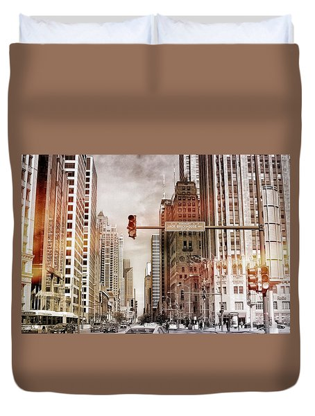 Michigan Ave - Chicago  Duvet Cover